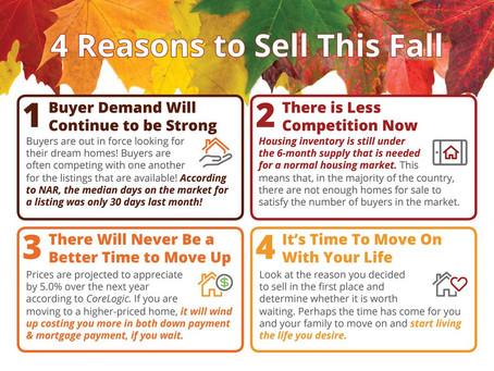 4 Reasons to Sell This Fall [INFOGRAPHIC]