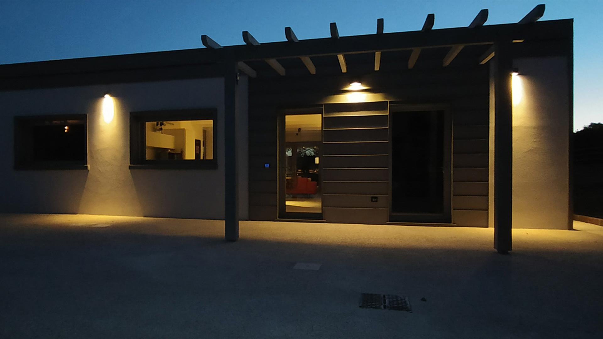 esterno nord casa nzeb notte