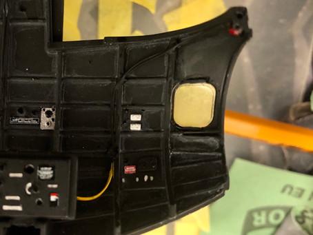 Installing lights in fuselage