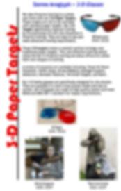 3D Paper Targets Info
