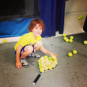 Campers Have a ball at Blackburn Tennis Productions Youth Summer Camps!