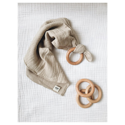 Blanket with Wooden Teether