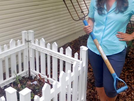 Ryan Gillikin of Immanuel, Bay Minette, creates holy compost