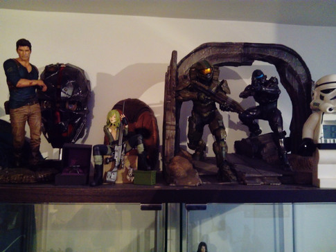 Statues on top of my display cabinet