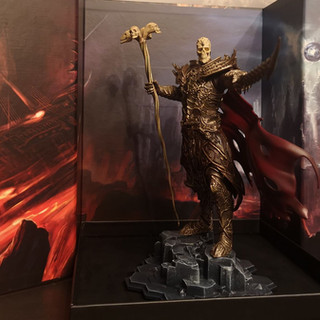 Fane Statue And Background