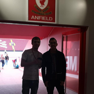Me & James Anfield Sign