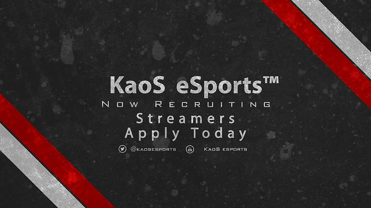 Recruiting Streamers Advert