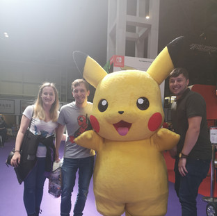 Me, Alex, Jake & Pikachu