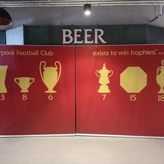 Liverpool FC Trophy Wall