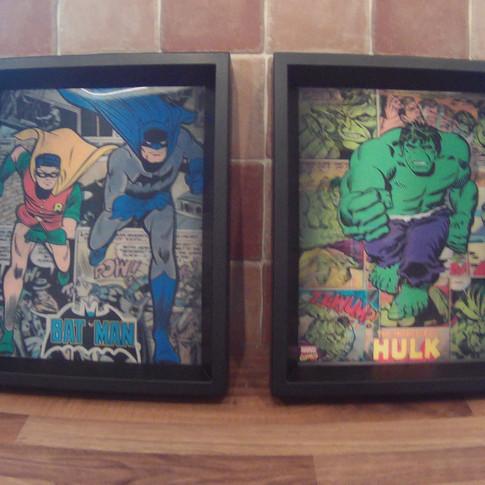 Batman, Robin & The Hulk