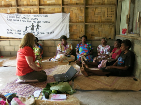 WFWP Australia providing sewing machines for the women's sewing centre on Tanna, 2003