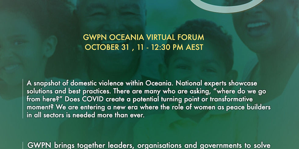 Global Women's Peace Network Oceania Virtual Conference