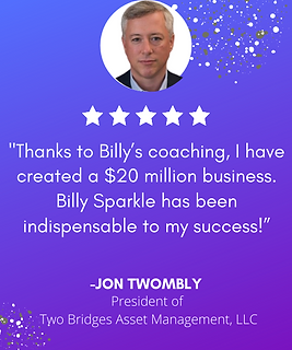 Billy Sparkle - Jon Twombly Testimonial