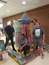 CANstruction team at work