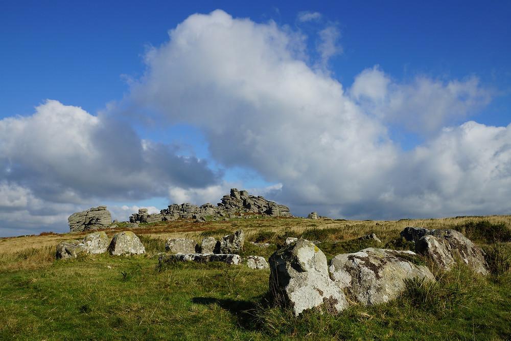 Dartmoor under blue skies