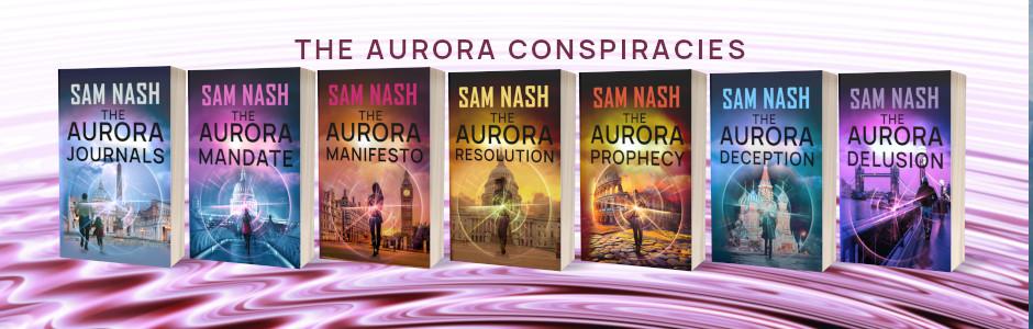 The Aurora Conspiracies, Sam Nash, Spy-Psi Thrillers, novels, fiction,