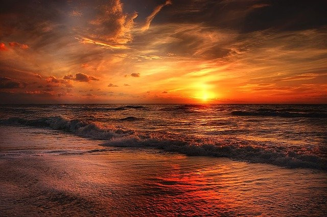 beautiful sunset - source - Pixabay