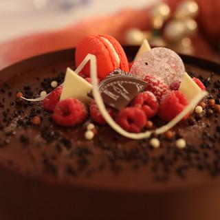Frambozenchocoladetaart