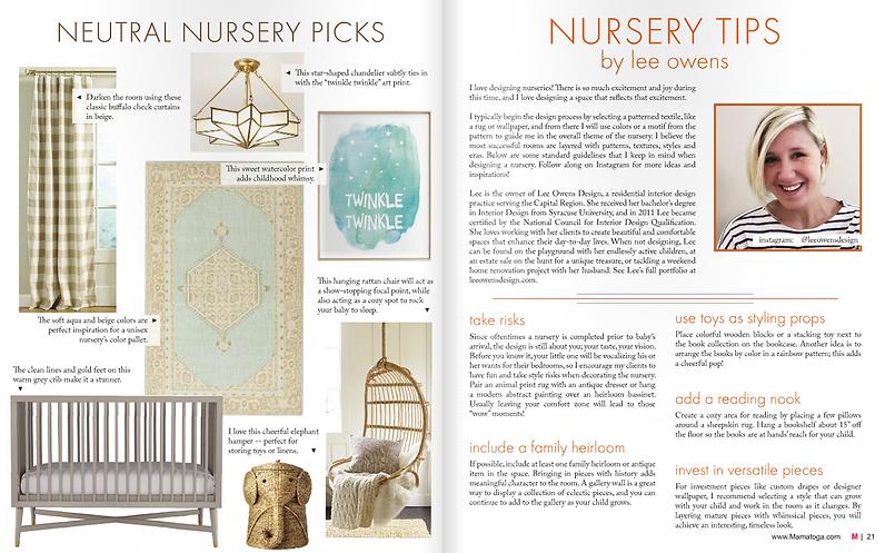 Saratoga New York Interior Designer Nursery Design