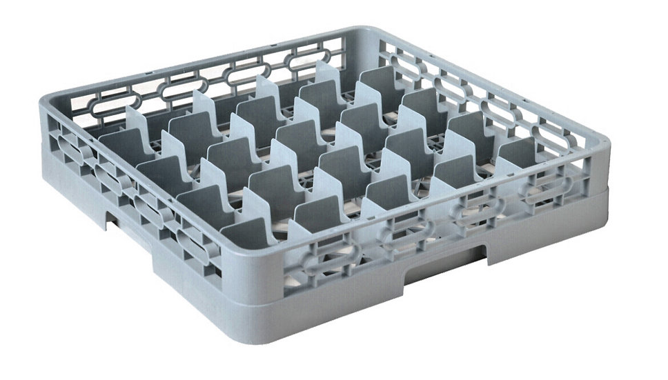 82025 25-COMPARTMENT GLASS RACK