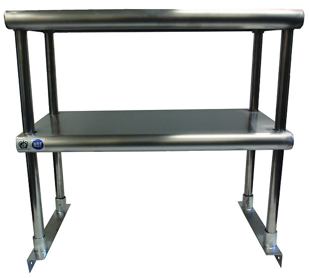 OVERSHELF FOR WORKTABLES (DOUBLE TIER)