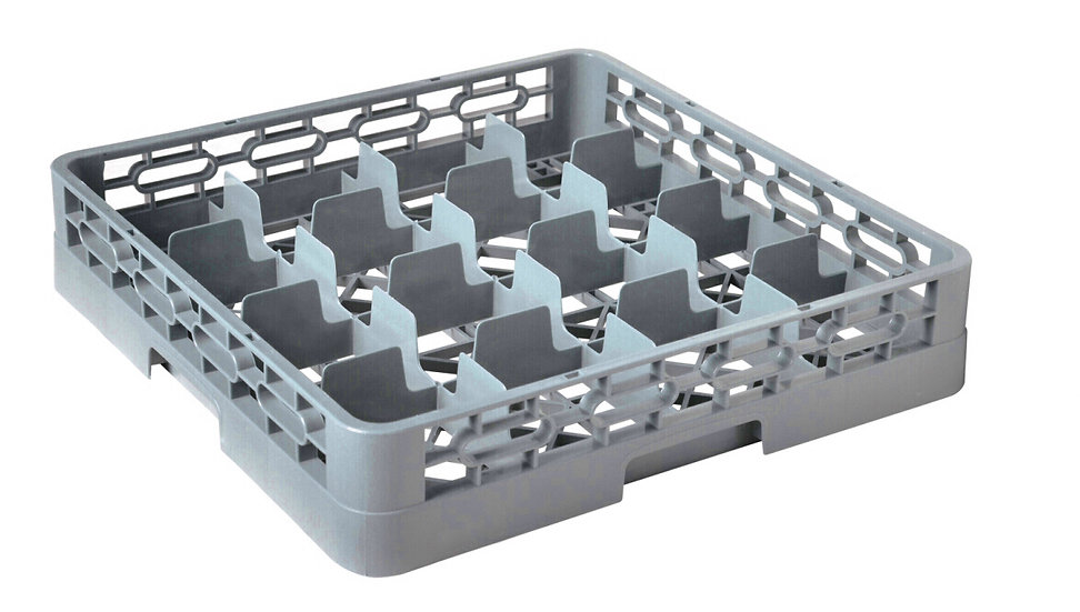 82016 16-COMPARTMENT GLASS RACK