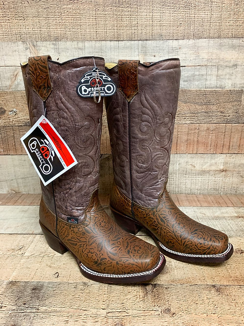 Bessero Two Toned Tooled Leather