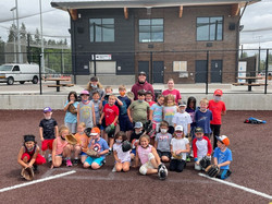 baseball camp group photo summer 2021