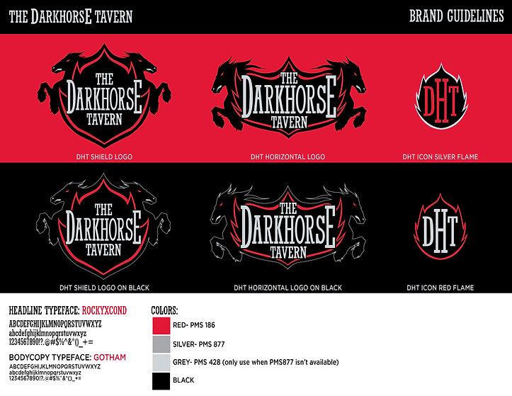 The Dark Horse Tavern Branding Guideline
