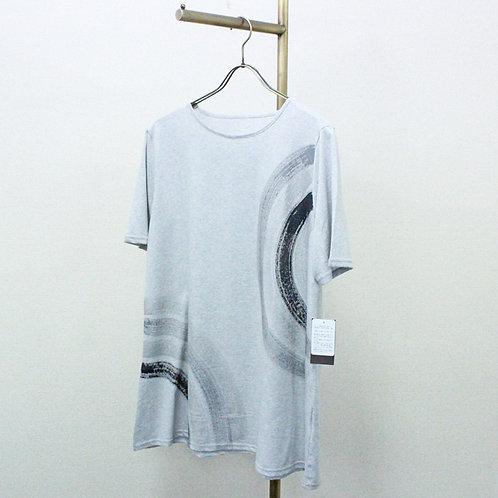 ラメプリントチュニックTシャツ
