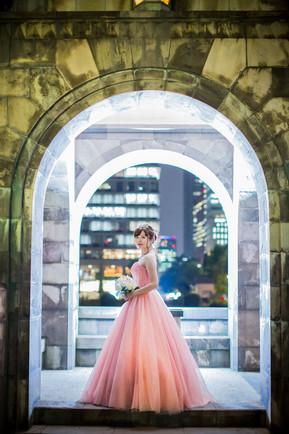 東京駅・丸の内での夜景ロケーションフォト(前撮り)