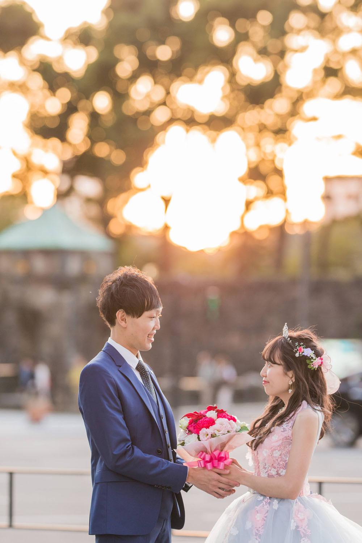 東京駅の丸の内で撮影した結婚式の写真