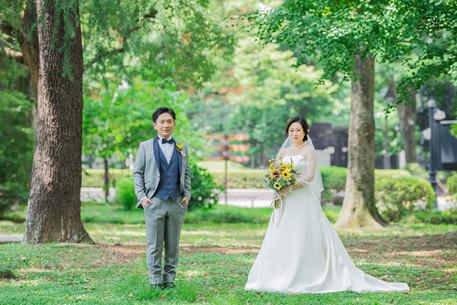 日比谷パレス公園での結婚式写真