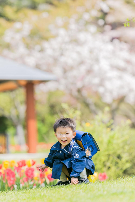 はままつフラワーパークで春に撮影をした入園記念写真