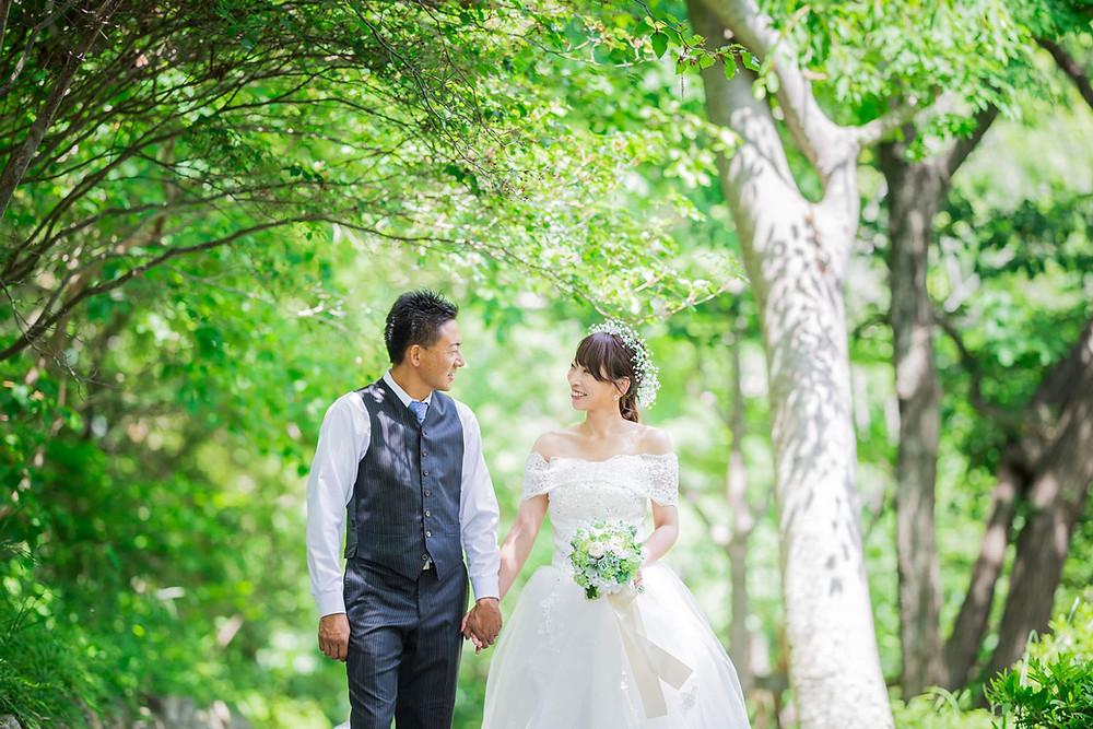 浜松城公園での結婚式前撮りロケーション写真