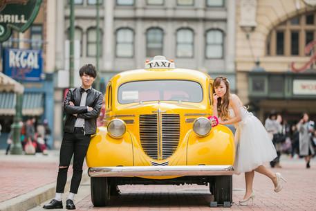ユニバでの結婚式前撮りロケーションフォト