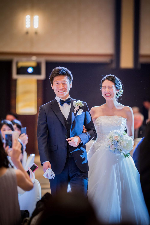 グランドプリンスホテル高輪での結婚披露宴の入場写真