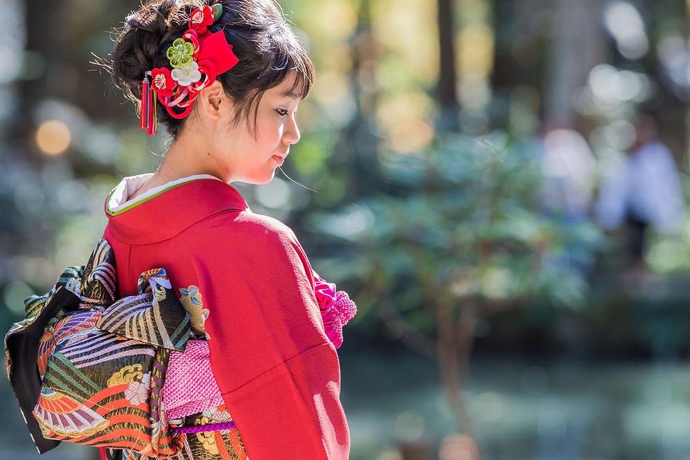小國神社での成人式前撮り写真