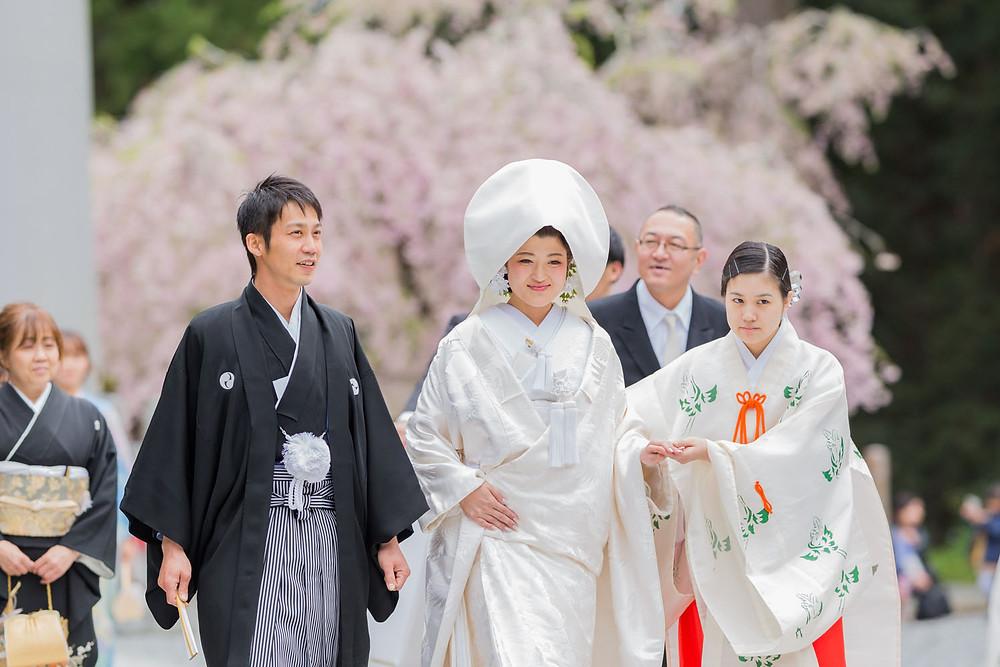小國神社の結婚式写真