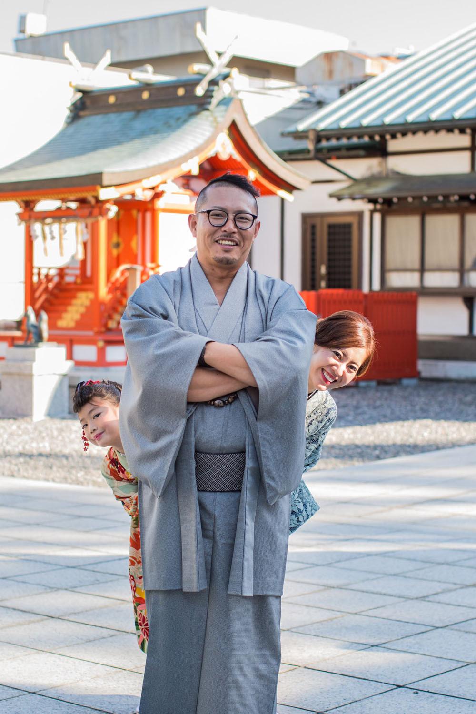 浜松の五社神社で撮影した七五三ファミリーフォト