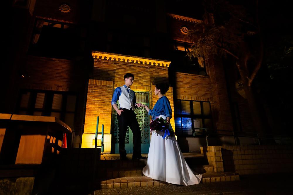 三重県四日市市にある諏訪公園で結婚式後に持込カメラマンが撮影したウエディングロケーションフォト