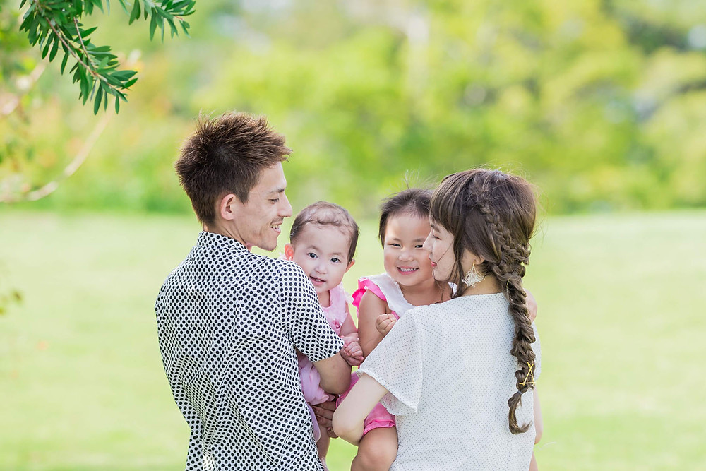 浜名湖ガーデンパークでの家族写真
