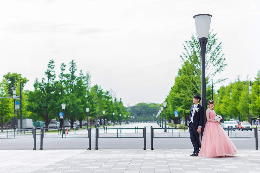 東京駅丸の内での結婚式前撮りロケーション写真