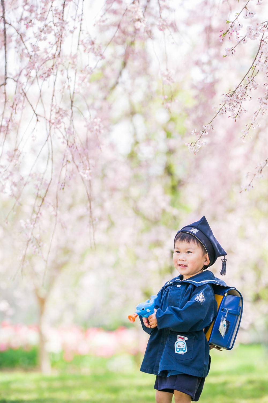 はままつフラワーパークで桜と撮影した入園記念写真