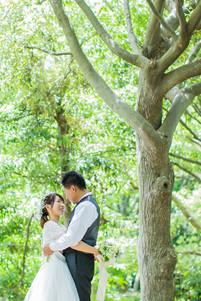 浜松城公園での結婚式前撮り写真