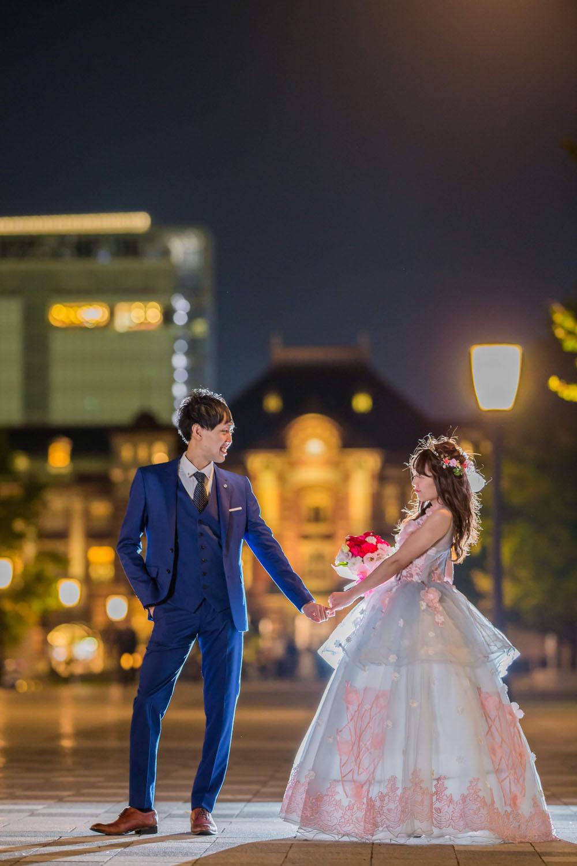 東京駅丸の内口で撮影をした結婚式前撮りロケーションフォト