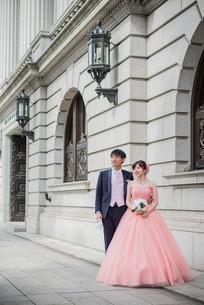 東京駅近くで撮影した結婚式前撮り写真