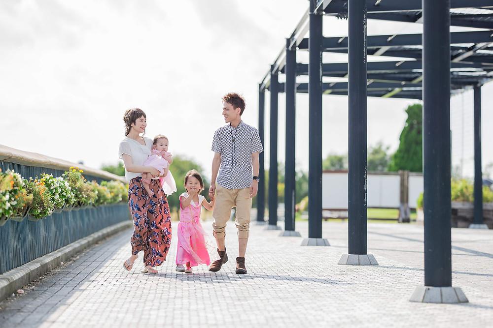 浜名湖ガーデンパークでのファミリーフォト