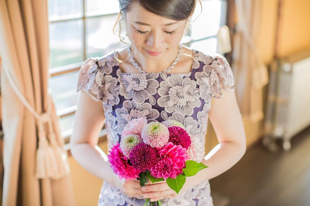 岡崎東公園の洋館で撮影した結婚式前撮り写真