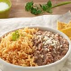 VEGETABLE RICE & REFRIED BEANS